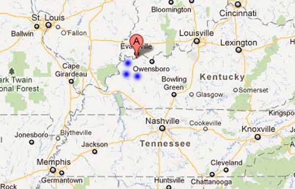 Contact Us Western Kentucky Outdoors - Map of western kentucky
